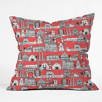 Sharon Turner Los Angeles Coral Throw Pillow