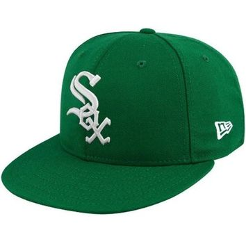 Chicago White Sox St. Patricks Day 59FIFTY Kelly Green Fitted Hat