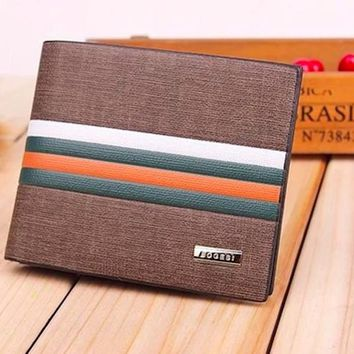 Sophisticated Striped Bifold Wallet