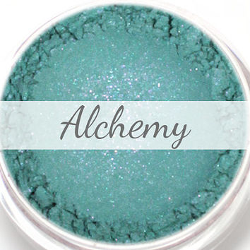 "Eyeshadow Sample - ""Alchemy"" - Teal with Purple Shimmer Vegan Mineral Eyeshadow Net Wt .4g Mineral Makeup Eye Color Pigment"