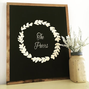 Home decor Shabby chic wood sign last name establish wedding sign home and living anniversary gift wedding gift bridal shower gift home sign