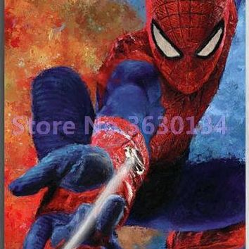 5D Diamond Painting Spiderman Web Kit