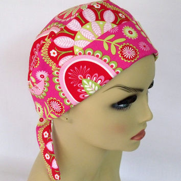 Mini Surgical Scrub Cap or Chemo Cap Gypsy Bandana