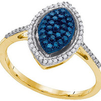 Diamond Fashion Ring in 10k Gold 0.26 ctw