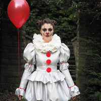 Pennywise Costume dress  IT 2017 clown costume, cosplay. Women's sizes or made to measure