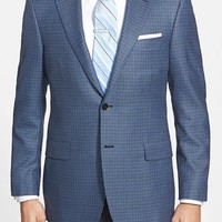 Men's Hickey Freeman 'Traveler' Classic Fit Check Sport Coat