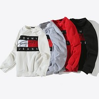 """ Tommy Hilfiger "" Fashion Long Sleeve Pullover Sweatshirt Top Sweater"