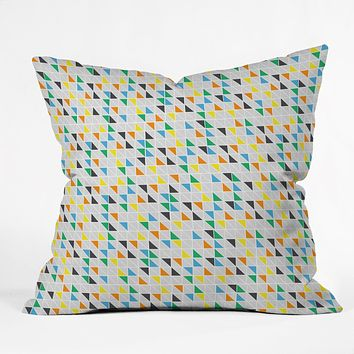Vy La Triangles Train Throw Pillow