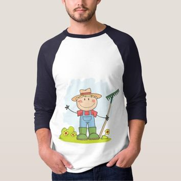 Farming Gardening Boy T-shirt