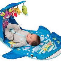 Infant Activity Gym Baby Floor Time Belly Whale Kicks Play Tummy Mat Kick Skills