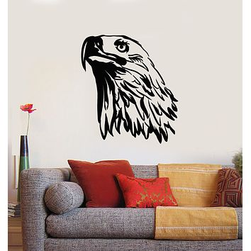 Vinyl Wall Decal Tribal Bird Abstract Eagle Head Feathers Stickers Mural (g1764)