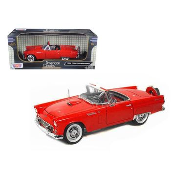 1956 Ford Thunderbird Red 1-18 Diecast Model Car by Motormax