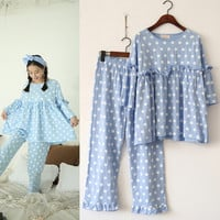 Cotton Home Korean Ruffle Set Pregnant Sleepwear [9256411210]