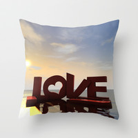 I Love You Throw Pillow by flamenco72