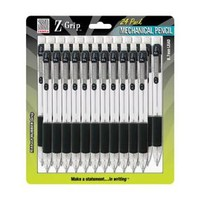 Zebra Z-Grip 0.7MM Mechanical Pencil Black 24pk
