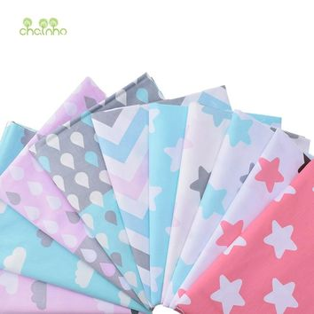10pcs Print Twill Cotton Fabric For Sewing Doll Baby Bedding Clothes Dress Skirt Patchwork Cartoon Tissue Material 40x50cm CC106