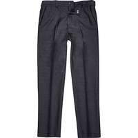 River Island Boys grey charcoal suit pants