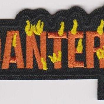 Pantera Iron-On Patch Flame Letters Logo