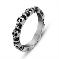Gift Shiny New Arrival Stylish Jewelry Vintage Skull Strong Character Ring [6542648579]