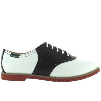 Eastland Sadie - Black/White Leather Saddle Oxford