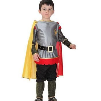 Roman Warrior Knight Children Cosplay Hallowean Carnival Party Boy Prince King Kids Costumes Masquerade Suit CO55161173