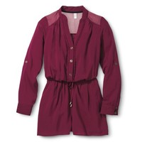 Junior's Challis Romper Burgundy