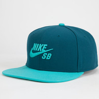 Nike Sb Icon Mens Snapback Hat Teal Blue One Size For Men 25402224601
