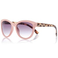 River Island Womens Light pink contrast arm sunglasses