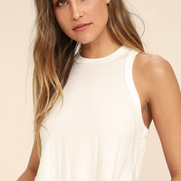 Gimme More Ivory Crop Top