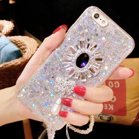 Glitters Handmade Sparkle Fading Charms Phone Case for 6/6s/6s plus for iPhone