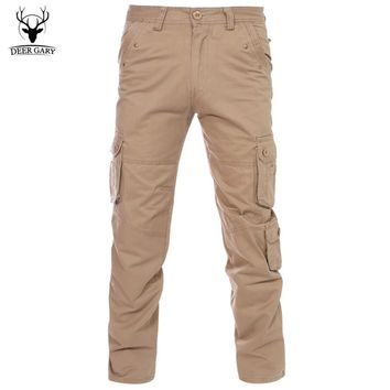 2016 New Fashion Men Casual Pants Army Style Solid Cargo Pants Military Clothing Male Trousers Pants  Big Yards