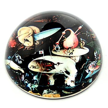 Tree Man from Garden of Earthly Delights Glass Paperweight by Bosch 3W