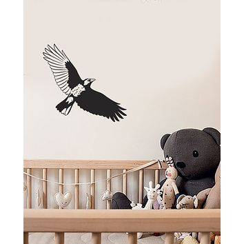 Vinyl Wall Decal Gothic Raven Bird Silhouette For Kids Room Stickers (4085ig)