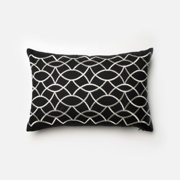 Loloi Black / White Decorative Throw Pillow (P0204)