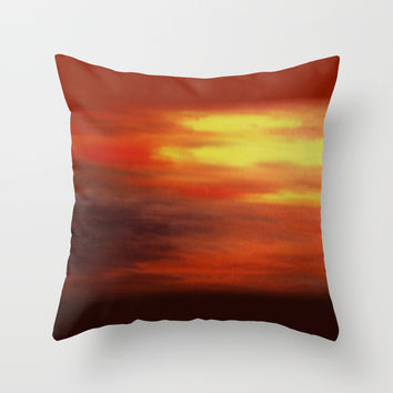 The Relenting Sun Throw Pillow by Alan Hogan