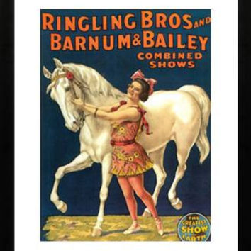 Vintage Barnum and Bailey Circus Poster Print