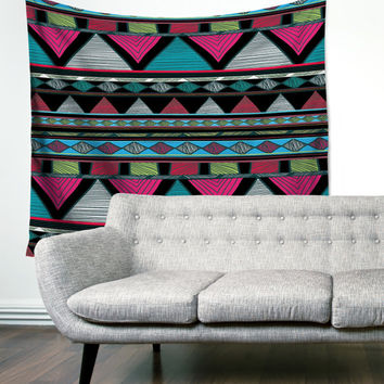 Pink Tribal Triangles Gypsy Unique Dorm Home Decor Wall Art Tapestry