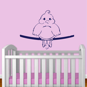 Funny Bird On A Wire Vinyl Decal Wall Sticker Art Design Kids Nursery Room Modern Nice Picture Home Decor Hall ki159