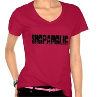 TEE SHIRT SHOPAHOLIC BLACK AND WHITE