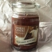 Yankee Candle Home Classics 22 oz Jar Candle ELEGANT AUTUMN - Retired Scent