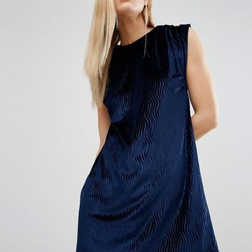 House Of Holland Velvet Tuck Dress at asos.com
