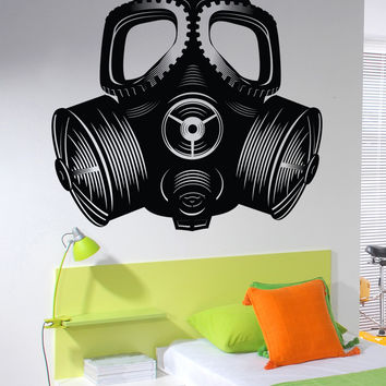 Vinyl Wall Decal Sticker Gas Mask #MCrespo103