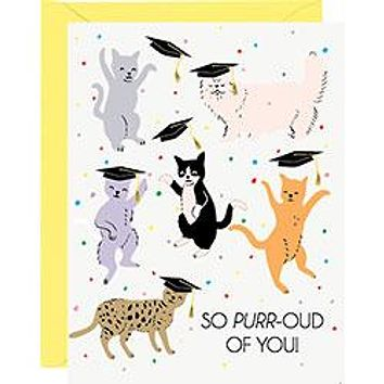 WASTE NOT PAPER GRAD CATS CARD