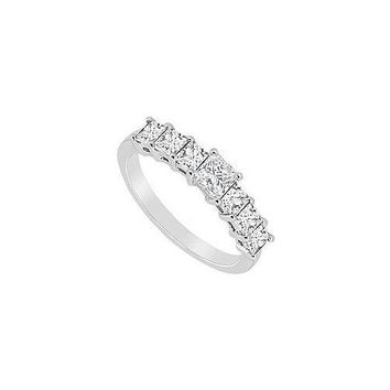 Diamond Wedding Band : 14K White Gold - 2.50 CT Diamonds