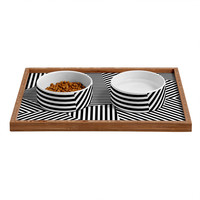Three Of The Possessed Dazzle New York Pet Bowl and Tray