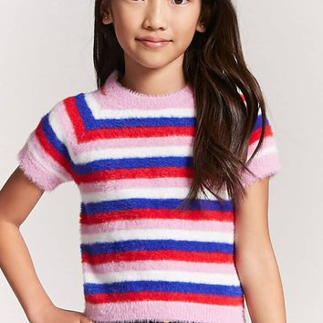 Girls Fuzzy Knit Tee (Kids)