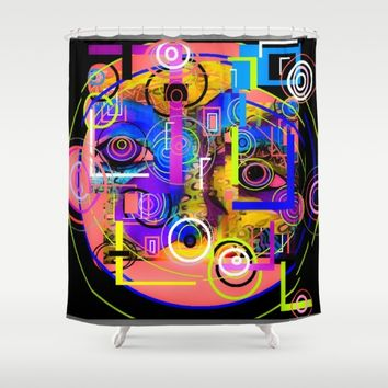 CIRCLE NATION Shower Curtain by violajohnsonriley