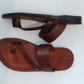 Leather Sandal Woman | Brown Leather Sandal | Wedding Sandal | Jesus Sandals Woman Gre - Beauty Ticks