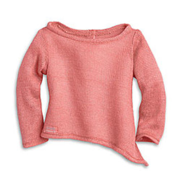American Girl® Clothing: Isabelle's Coral Sweater for Dolls