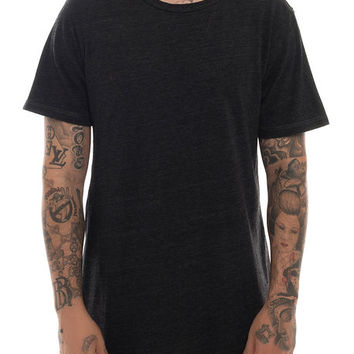The Droptail Super Longline Tall Tee in Onyx